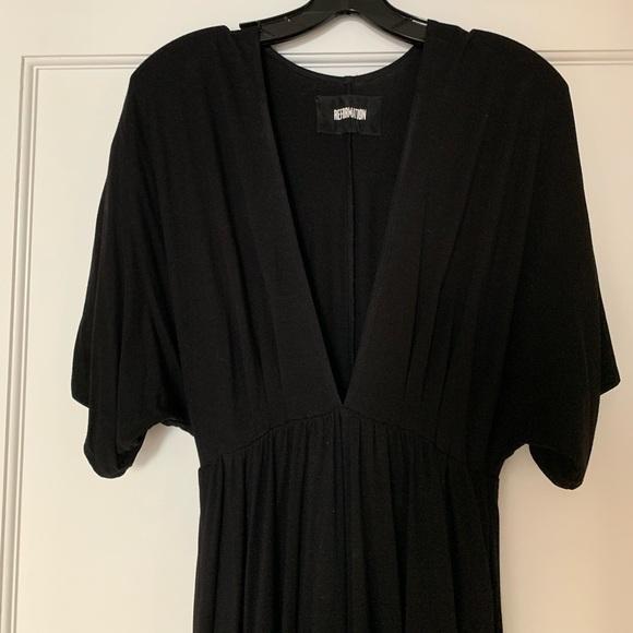 Reformation Dresses & Skirts - Reformation black jersey low v dress